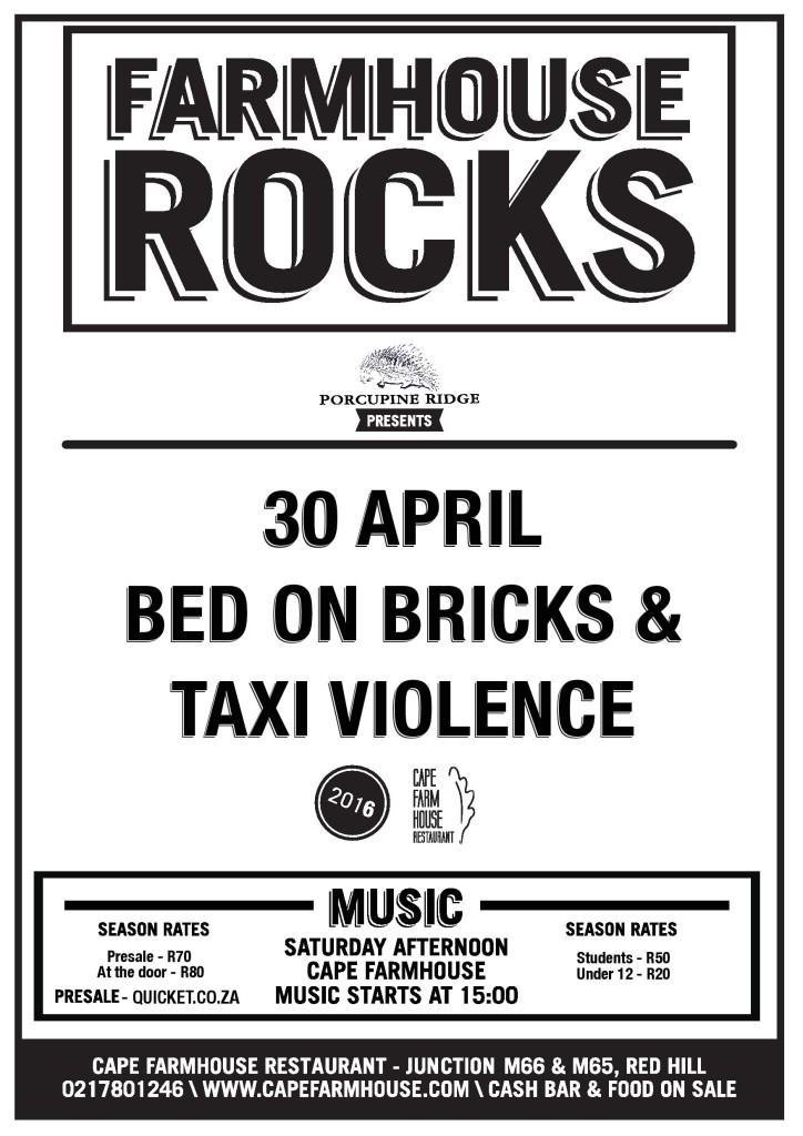 Taxi Violence and Bed on Bricks